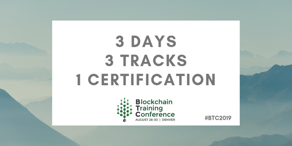 Blockchain Training Conference to Offer 3 Tracks at Upcoming Denver Event